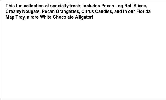 This fun collection of specialty treats includes Pecan Log Roll Slices,